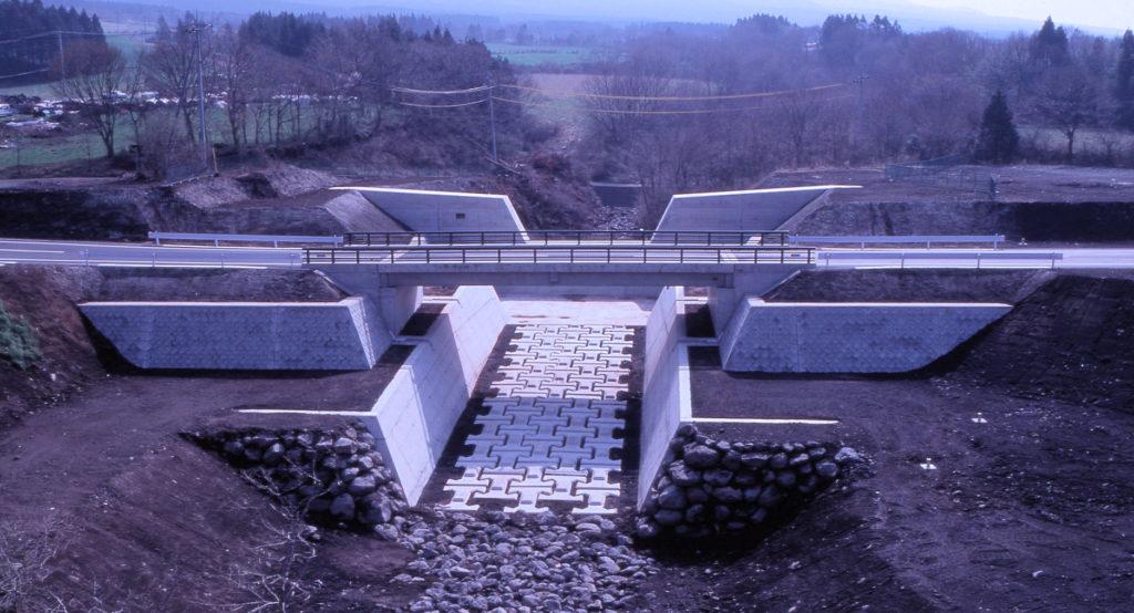 平成3年度富士山栗の木第4砂防ダム及び市道付替工事  <1992年>